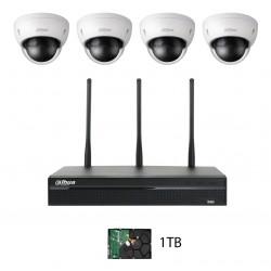 Dahua NVR Wifi KIT 1TB med 4st Wifi Kameror NVR4104HS-W-S2/4XHDBW1320EP-W